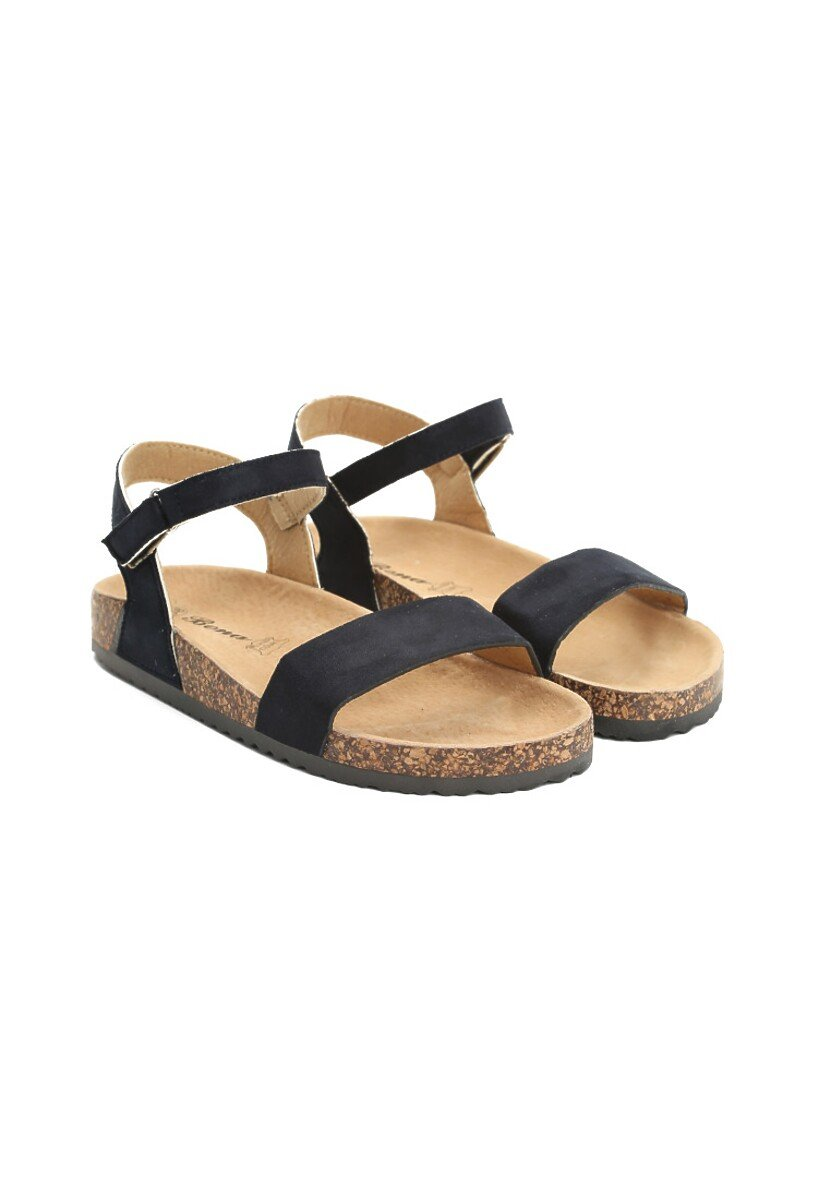 Granatowe Sandały Adventure