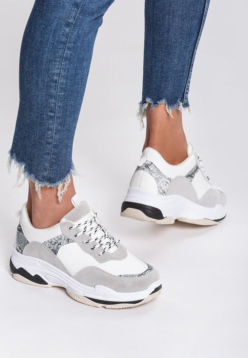 Białe Sneakersy Schromatic