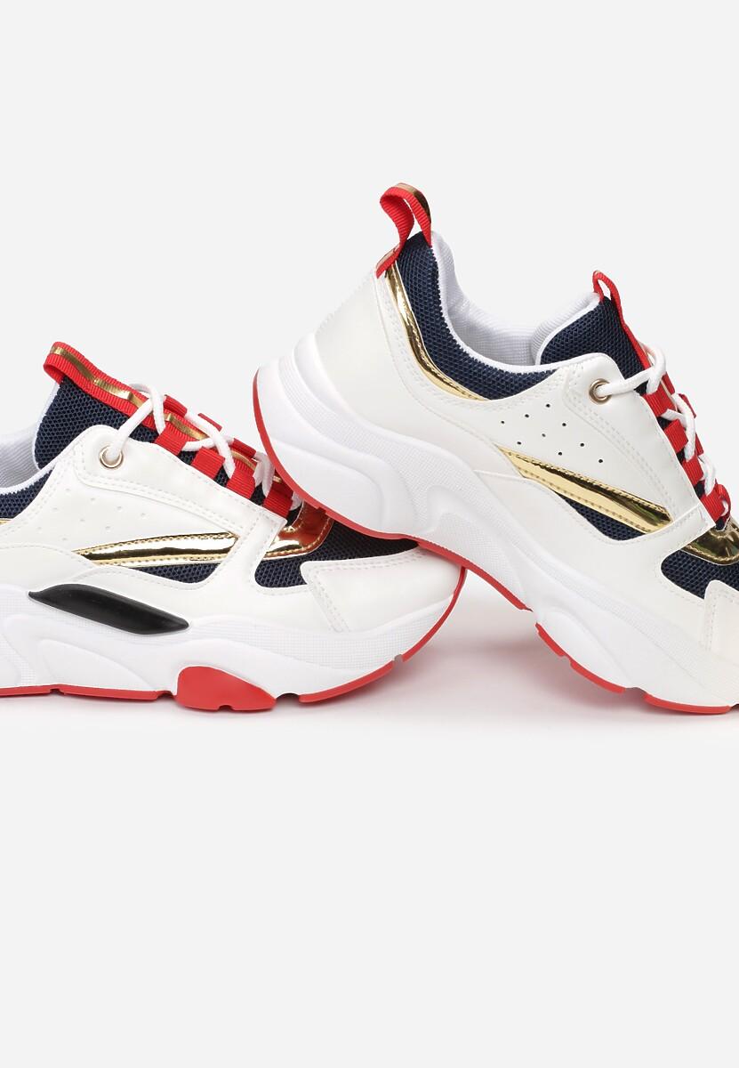 Biało-Czerwone Sneakersy Stick It To