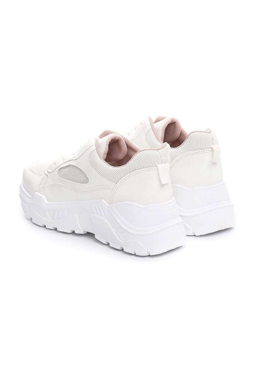 Biało-Różowe Sneakersy Wire