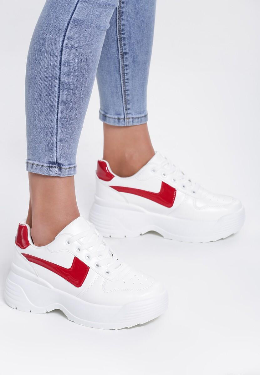 Biało Czerwone Sneakersy Their