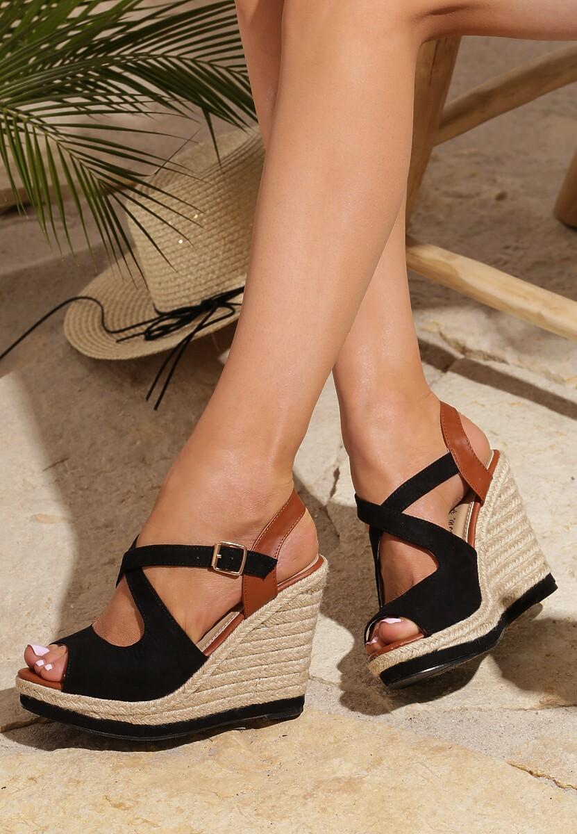 Czarne Sandały Allegiant