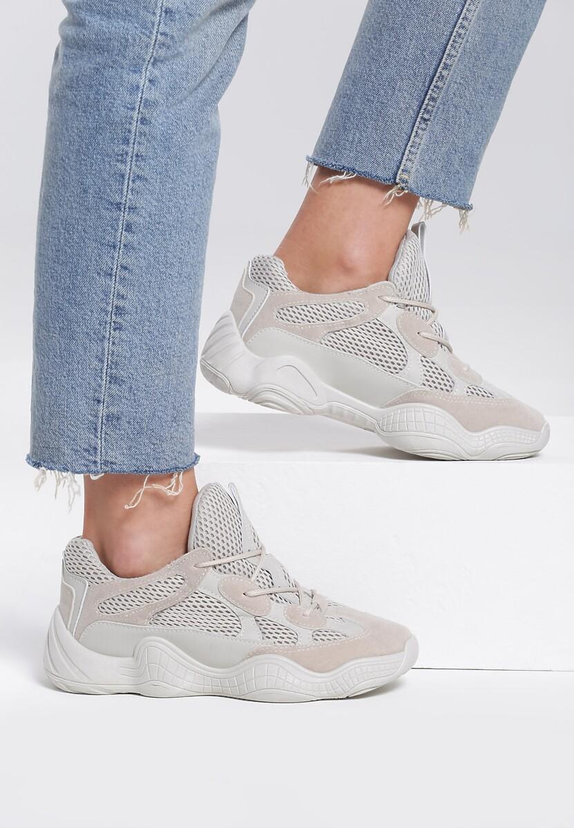 Beżowe Sneakersy Ikon