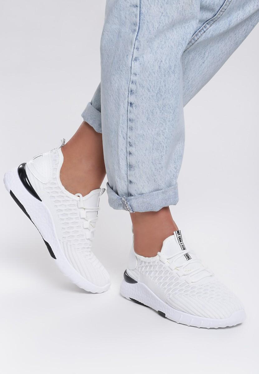 Białe Buty Sportowe Tactile