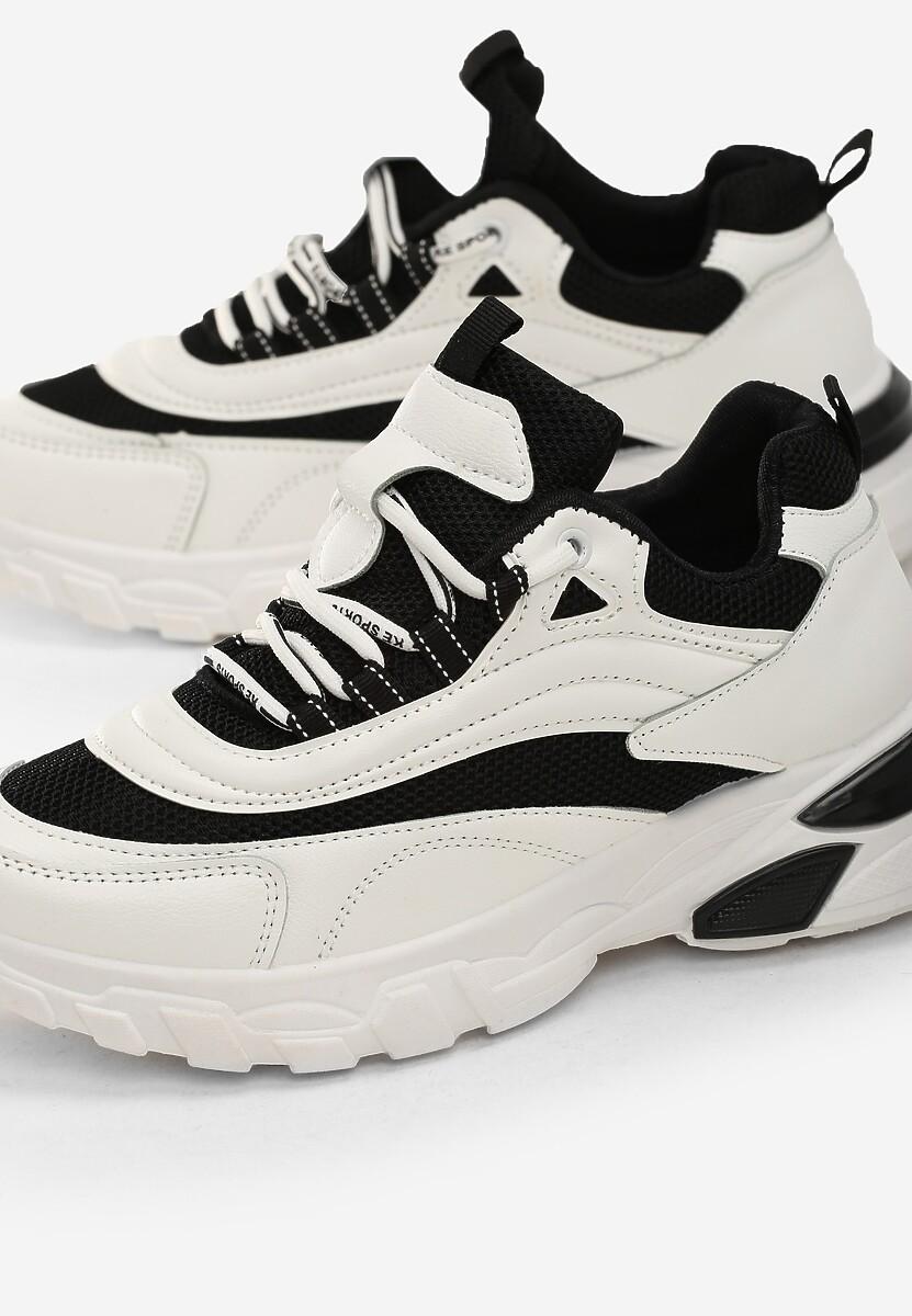 Biało-Czarne Sneakersy Waddon