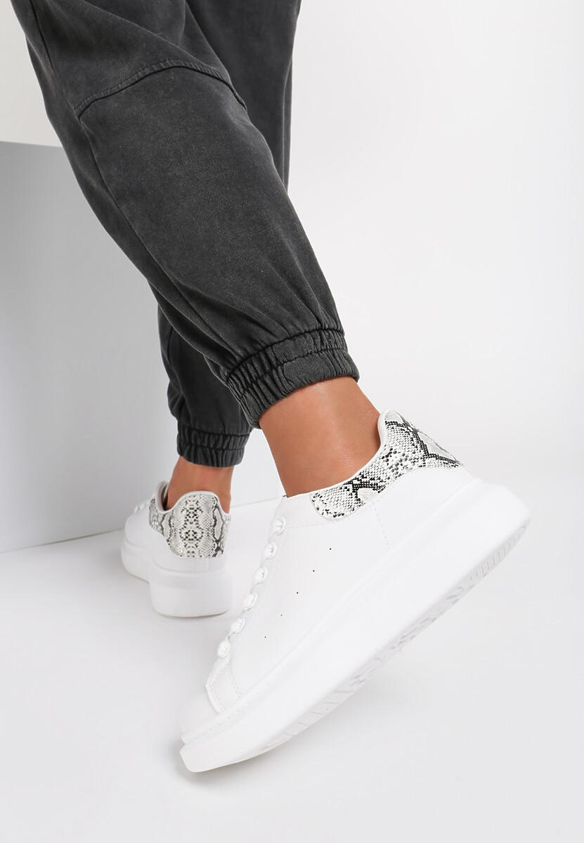 Białe Wężowe Sneakersy Wembley