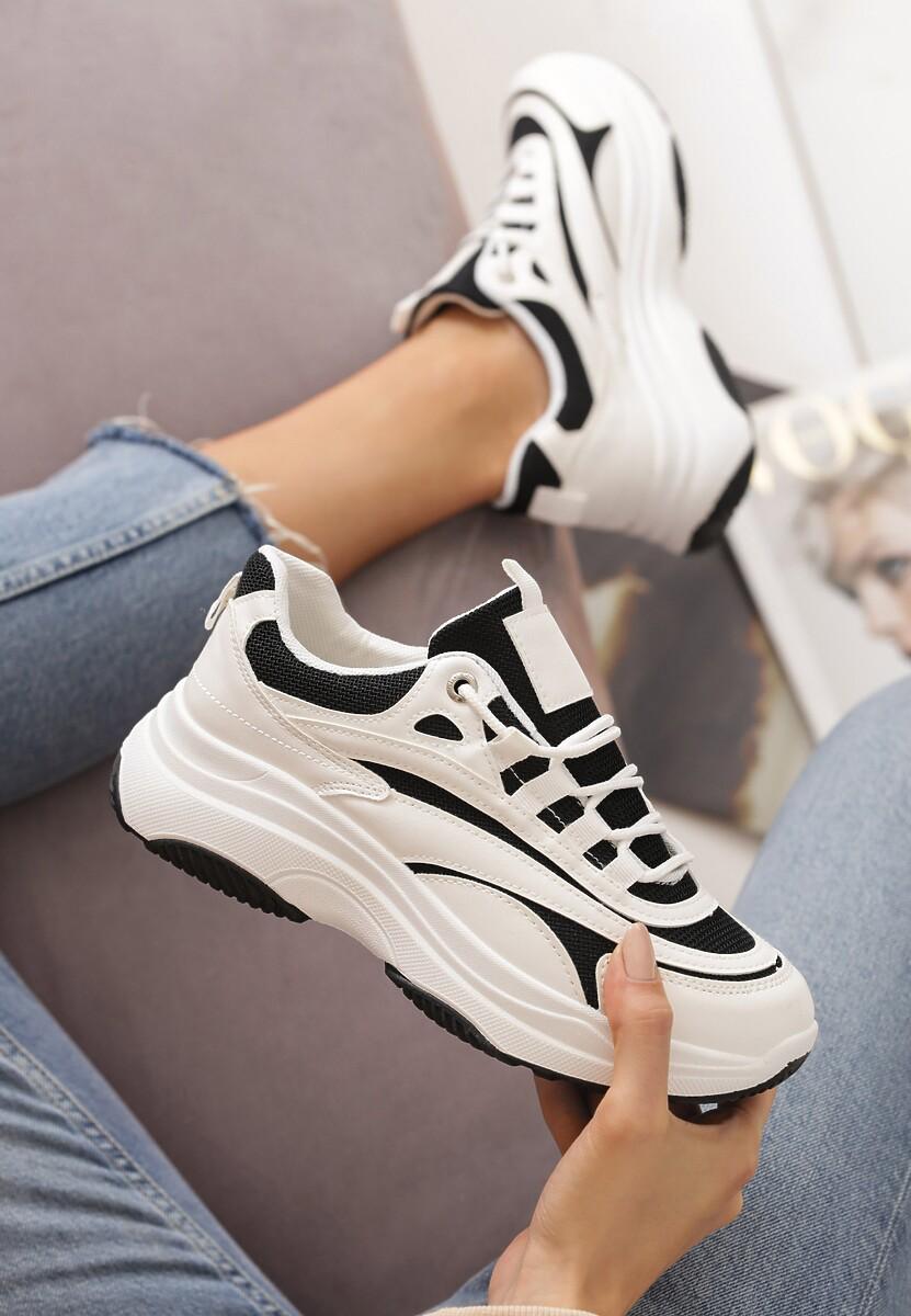 Biało-Czarne Sneakersy Marabella