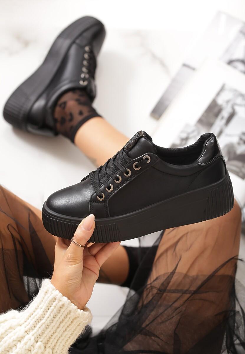 Czarne Sneakersy Fanshawe