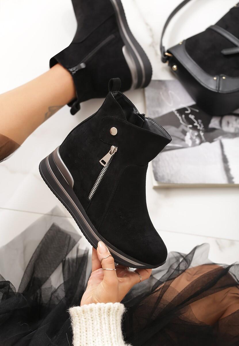 Czarne Sneakersy Troyes