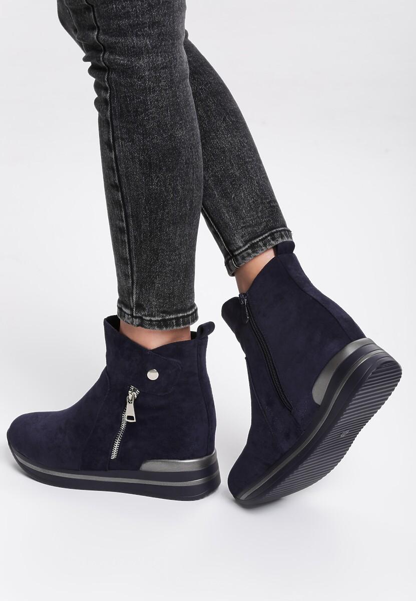Granatowe Sneakersy Troyes