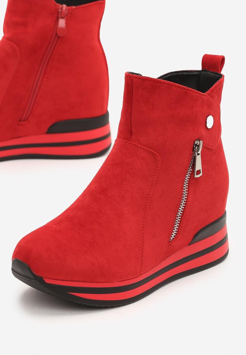 Czerwone Sneakersy Troyes