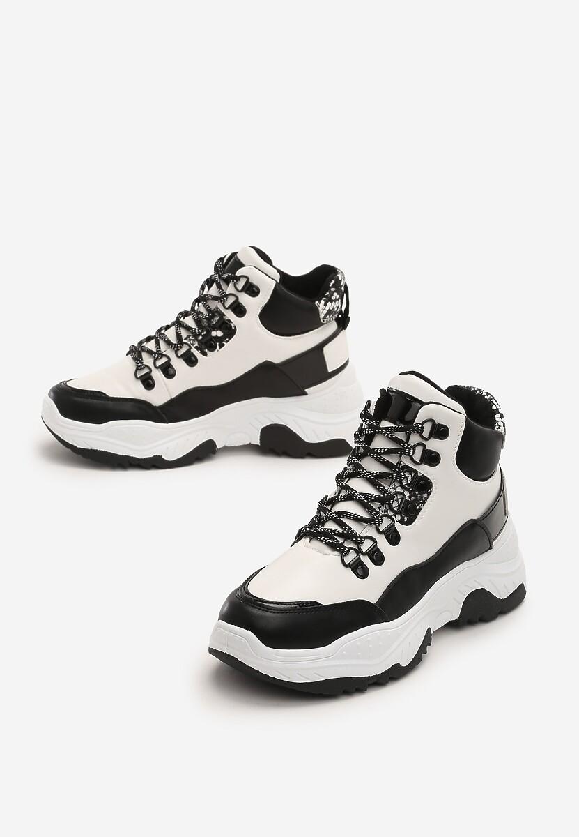 Biało-Czarne Sneakersy Lorient