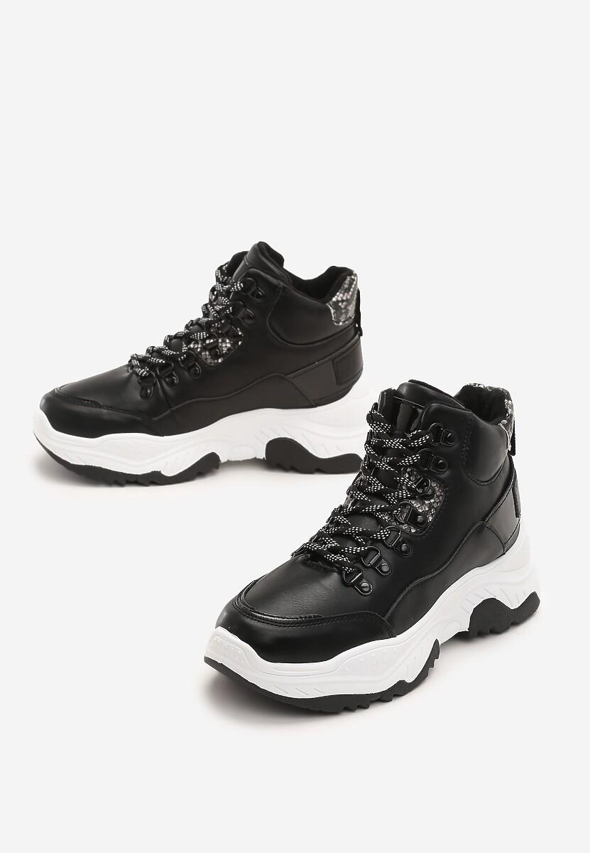 Czarne Sneakersy Lorient