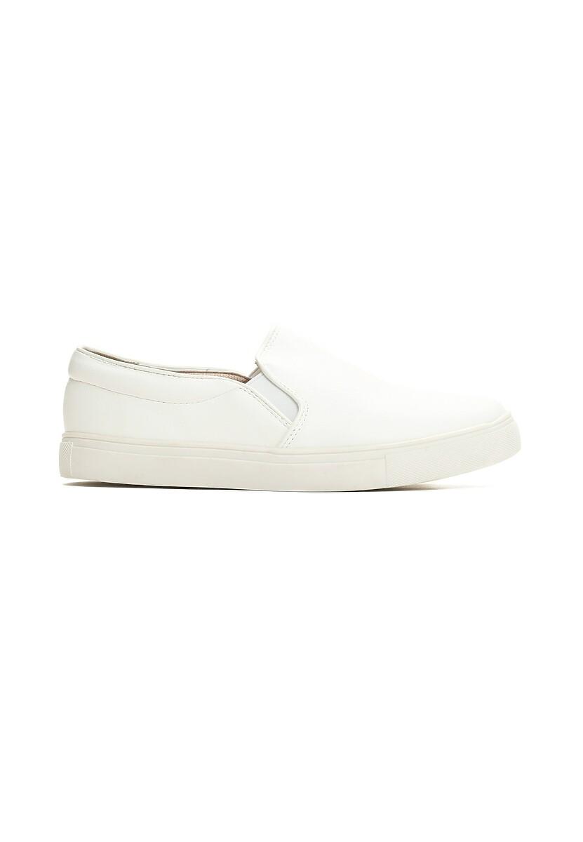 Białe Slip On Perfect Walk
