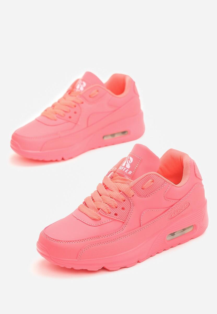 Koralowe Neonowe Buty Sportowe Peach Perfect