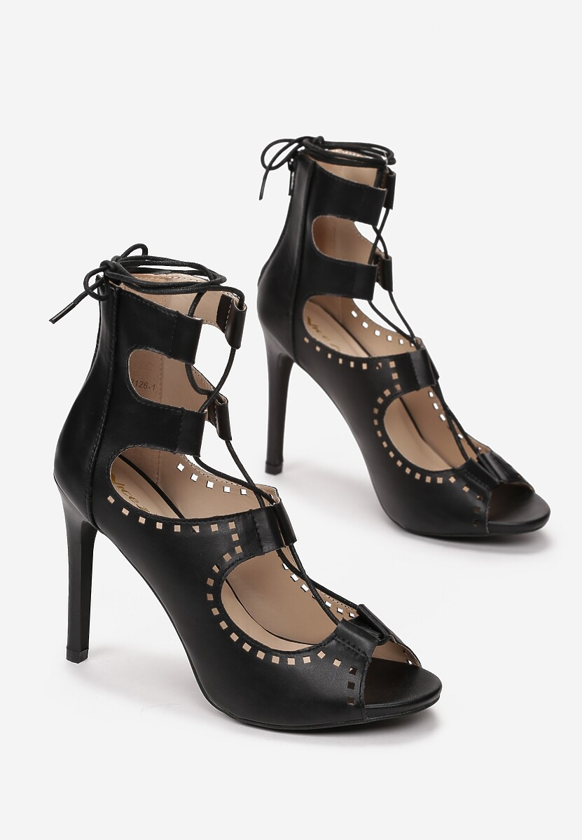 Czarne Sandały Daisy