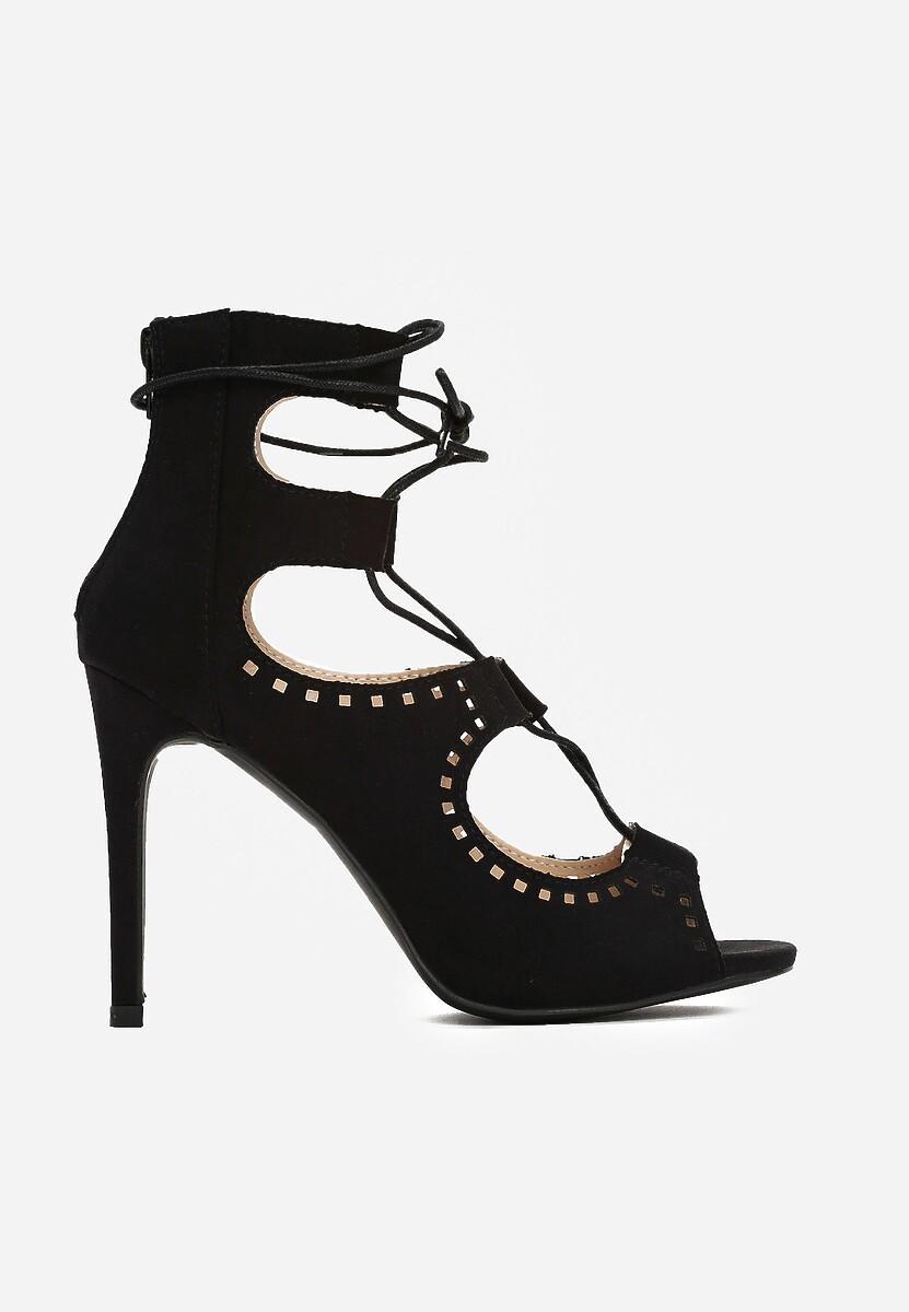 Czarne Sandały Barcelona
