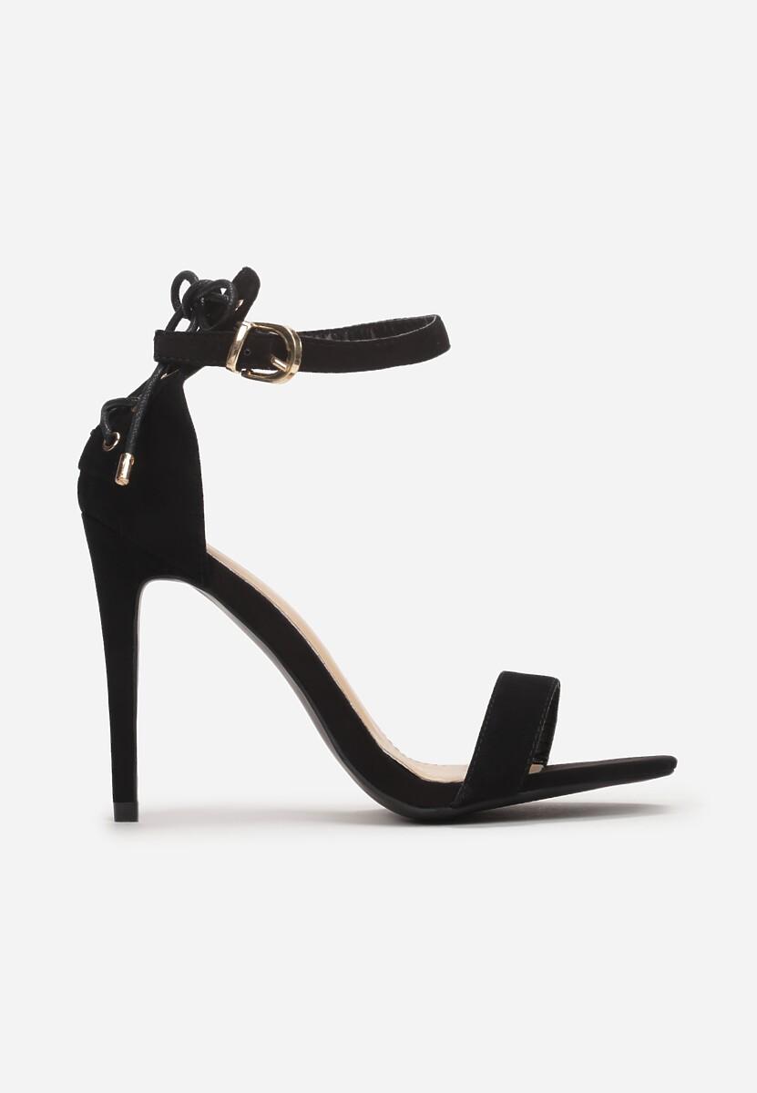 Czarne Sandały Nysathera