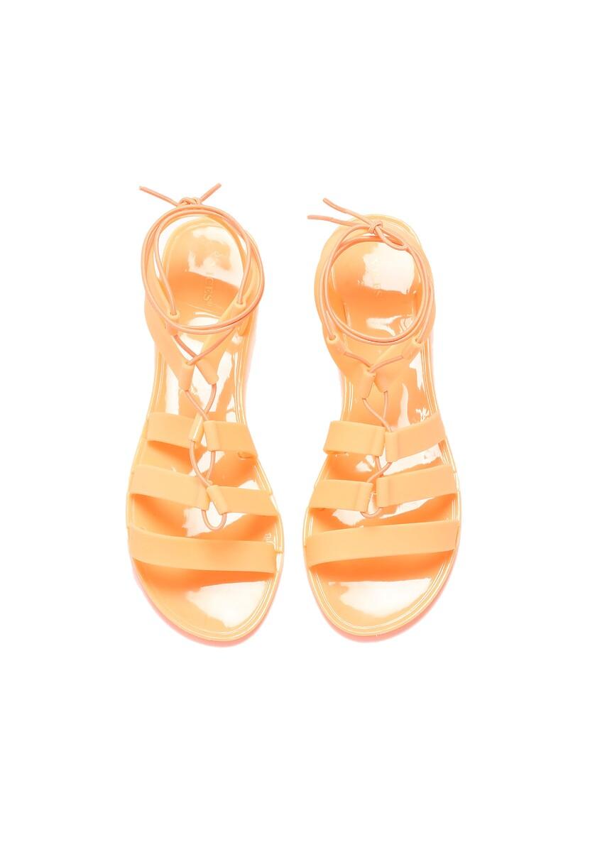Pomarańczowe Sandały Alexandra