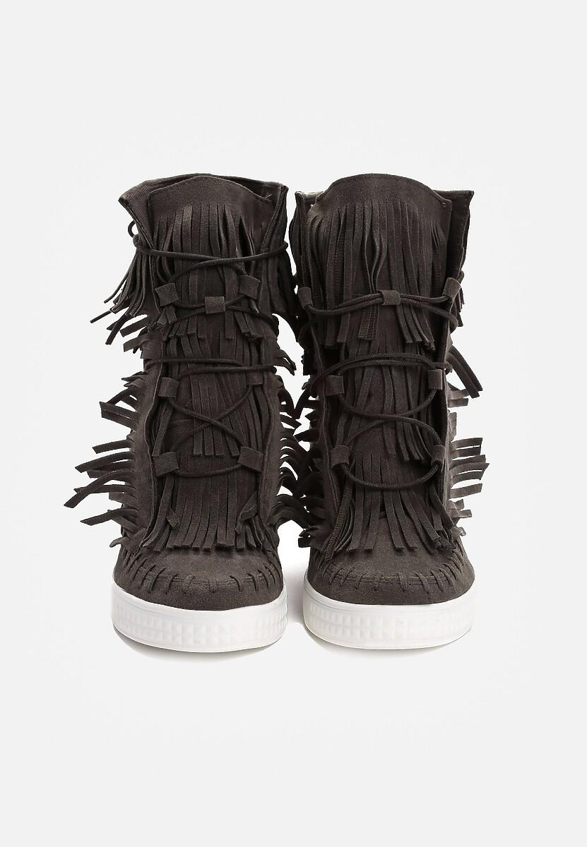 Ciemnoszare Sneakersy Capital Letters