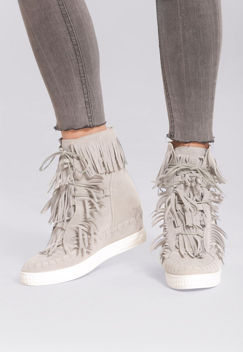 Jasnoszare Sneakersy Capital Letters