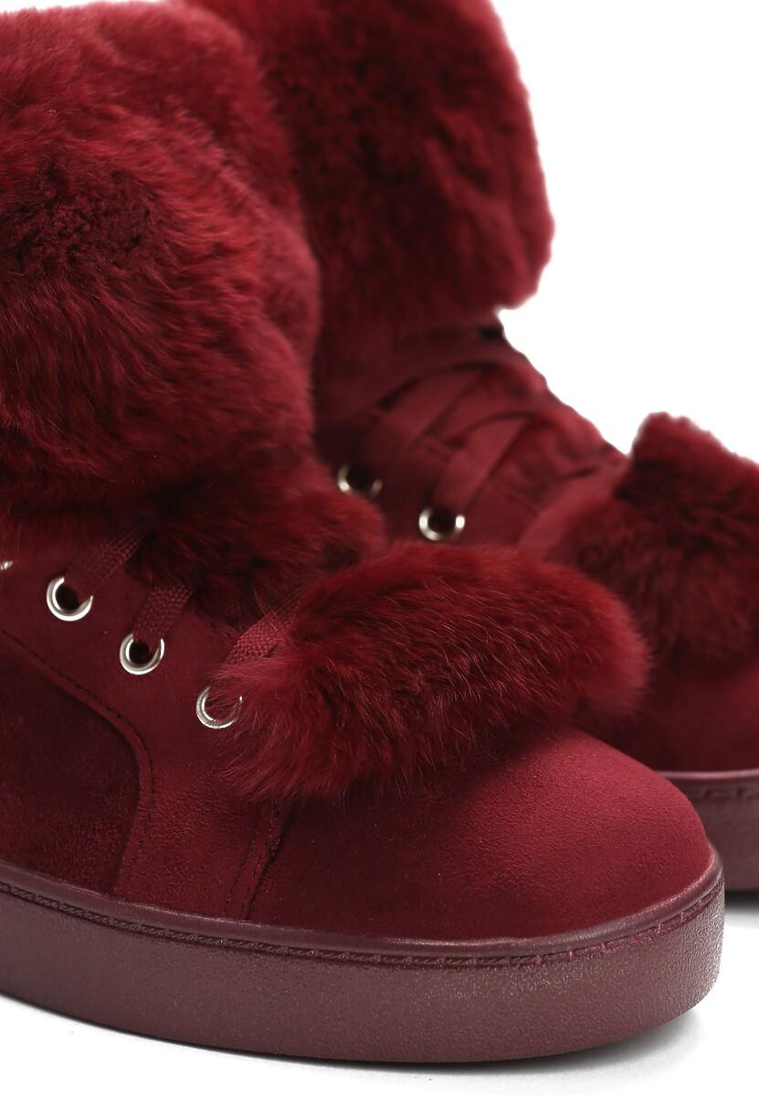 Bordowe Sneakersy Taryn