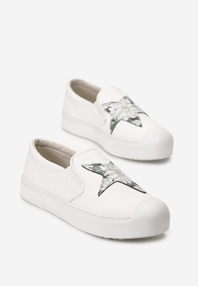 Białe Slip On Paisley