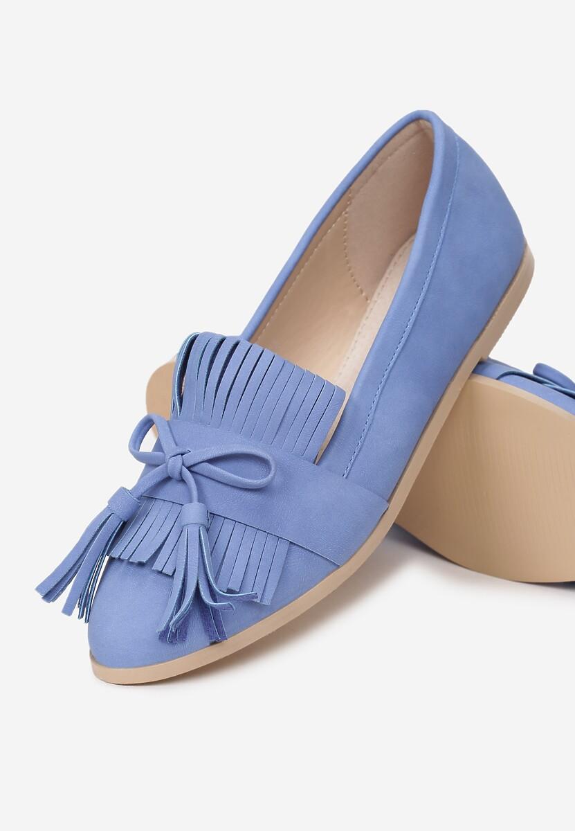 Niebieskie Mokasyny Navy Blue