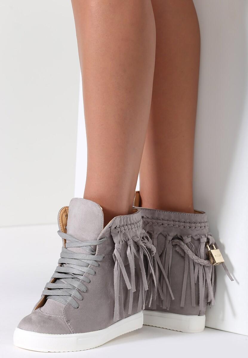 Szare Sneakersy Stick In Web