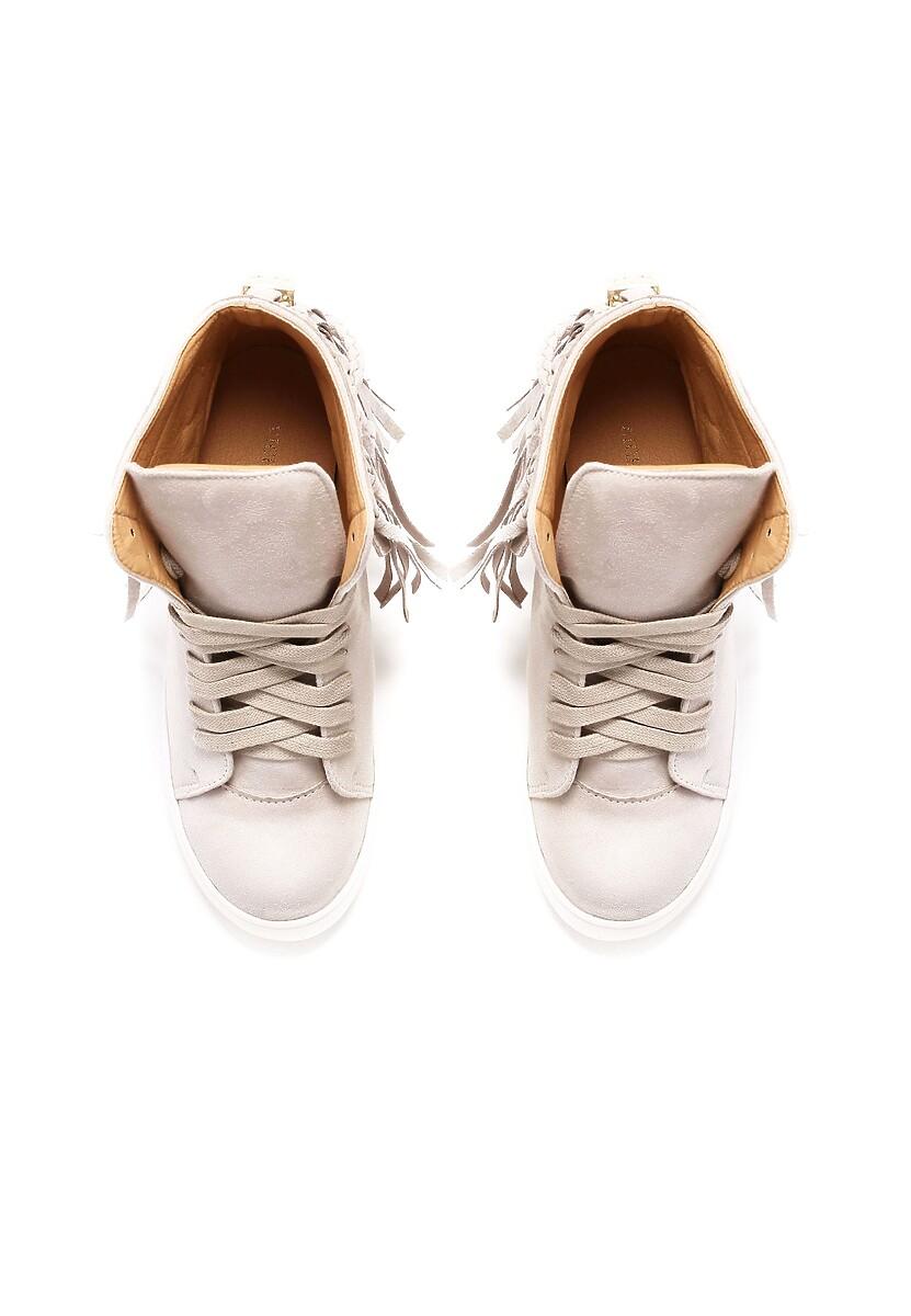 Beżowe Sneakersy Stick In Web