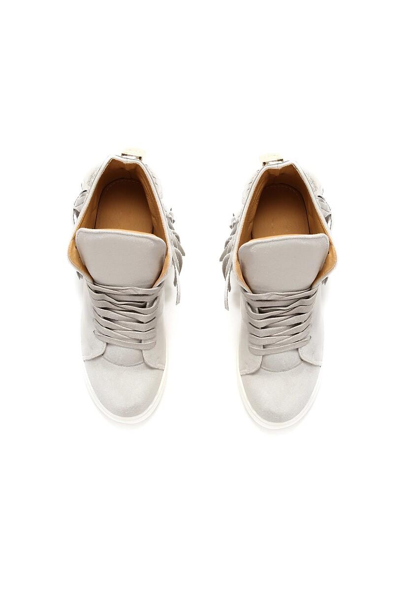 Jasnoszare Sneakersy Stick In Web