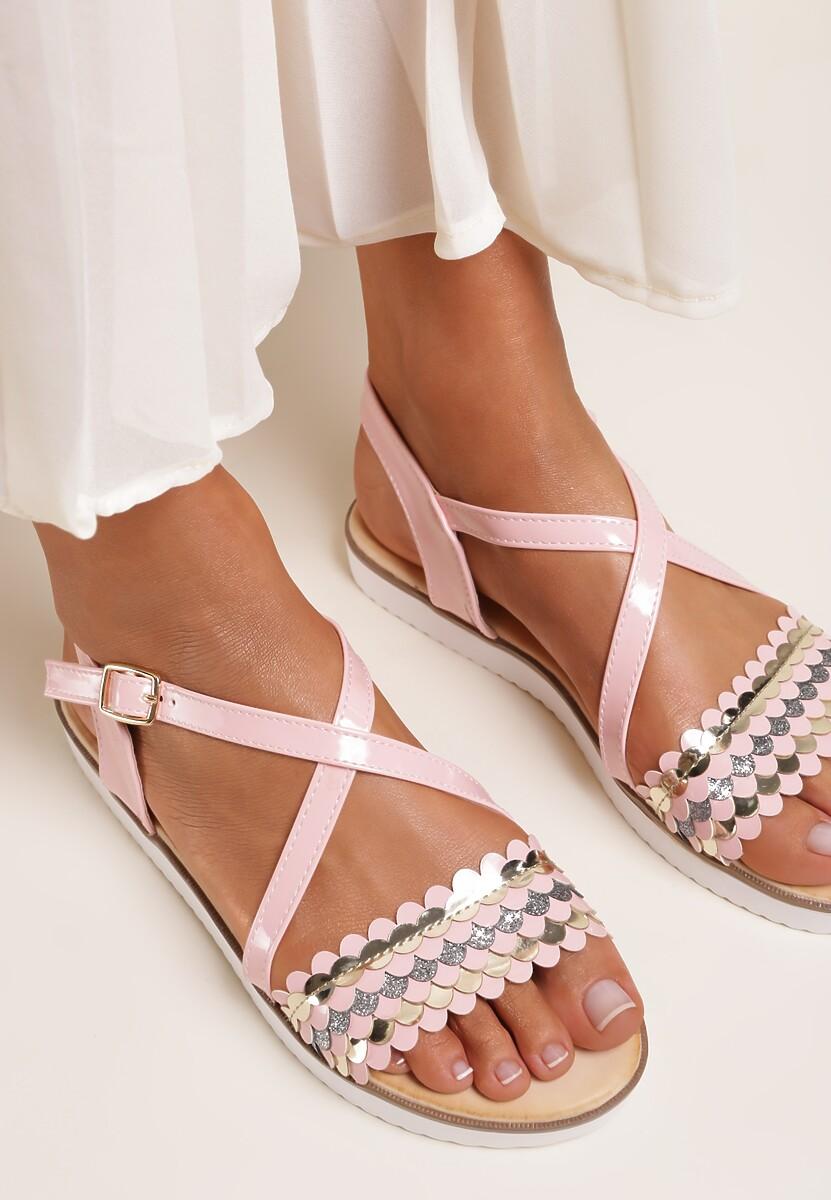 Różowe Sandały Derive