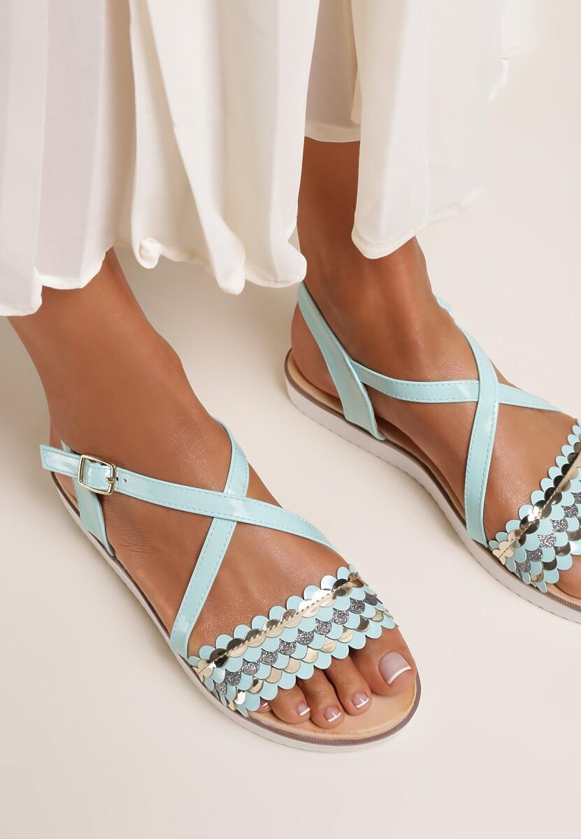 Miętowe Sandały Derive