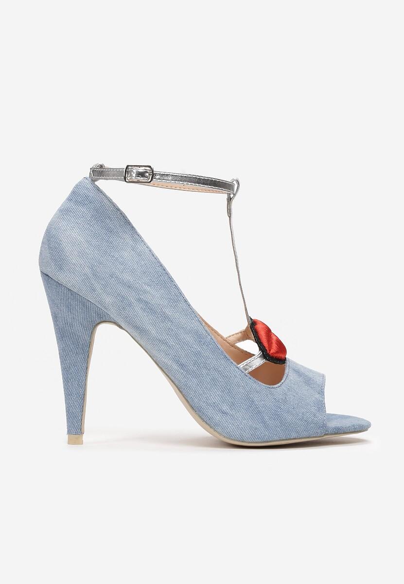Niebieskie Sandały Checker