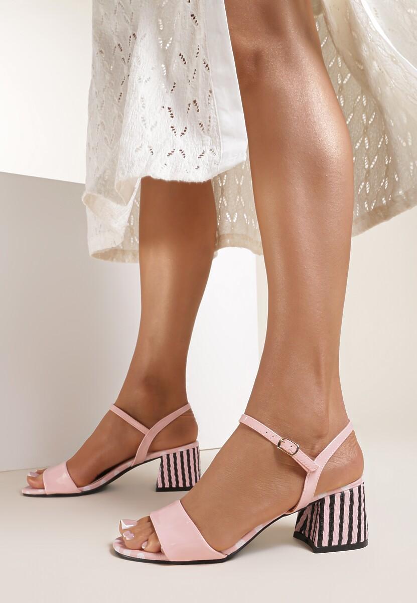 Różowe Sandały Nefarious