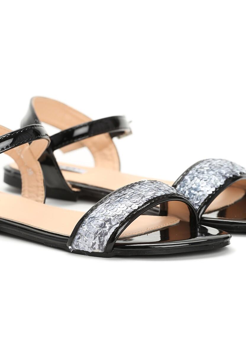 Czarne Sandały Mellifluous