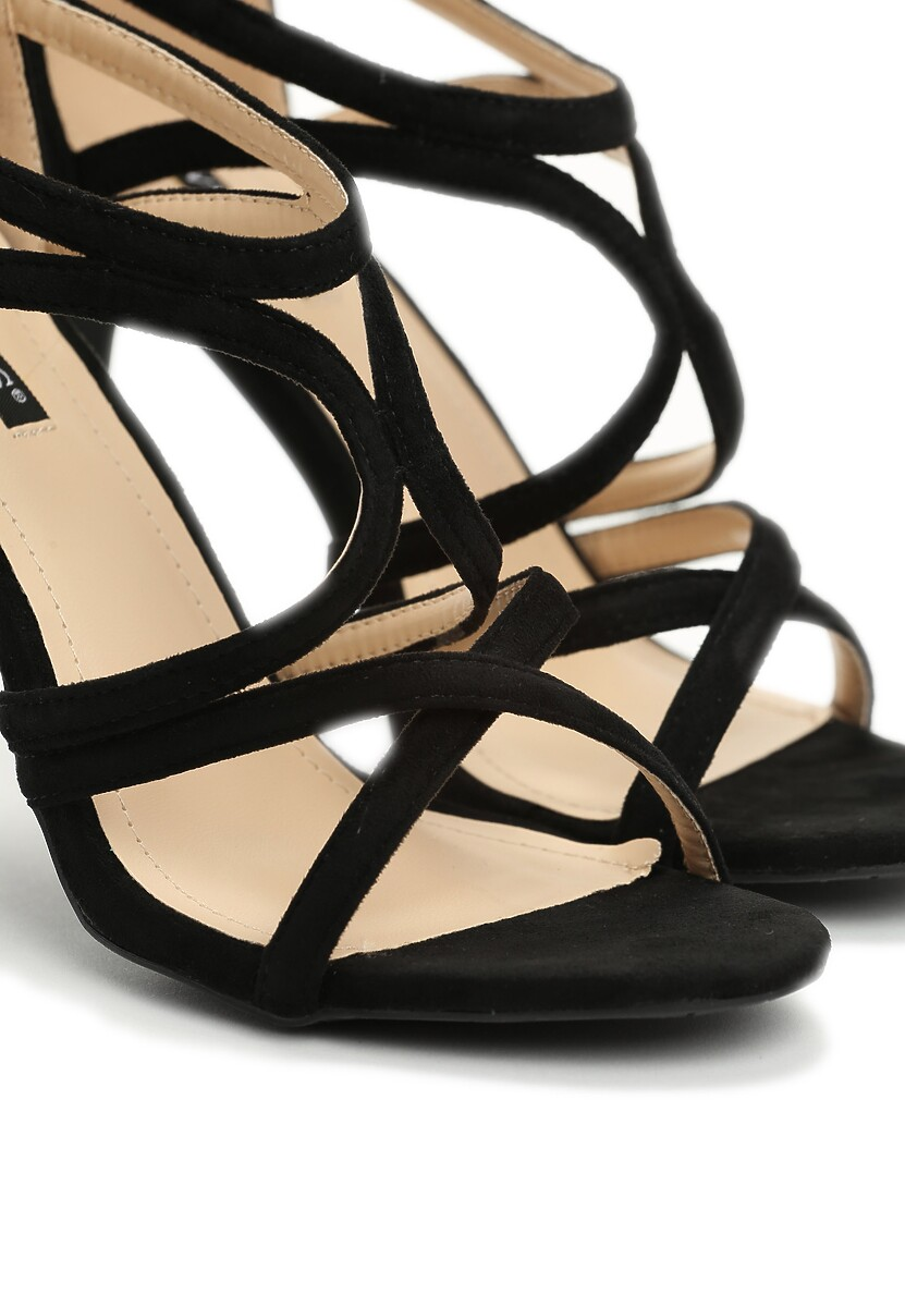 Czarne Sandały Alibi