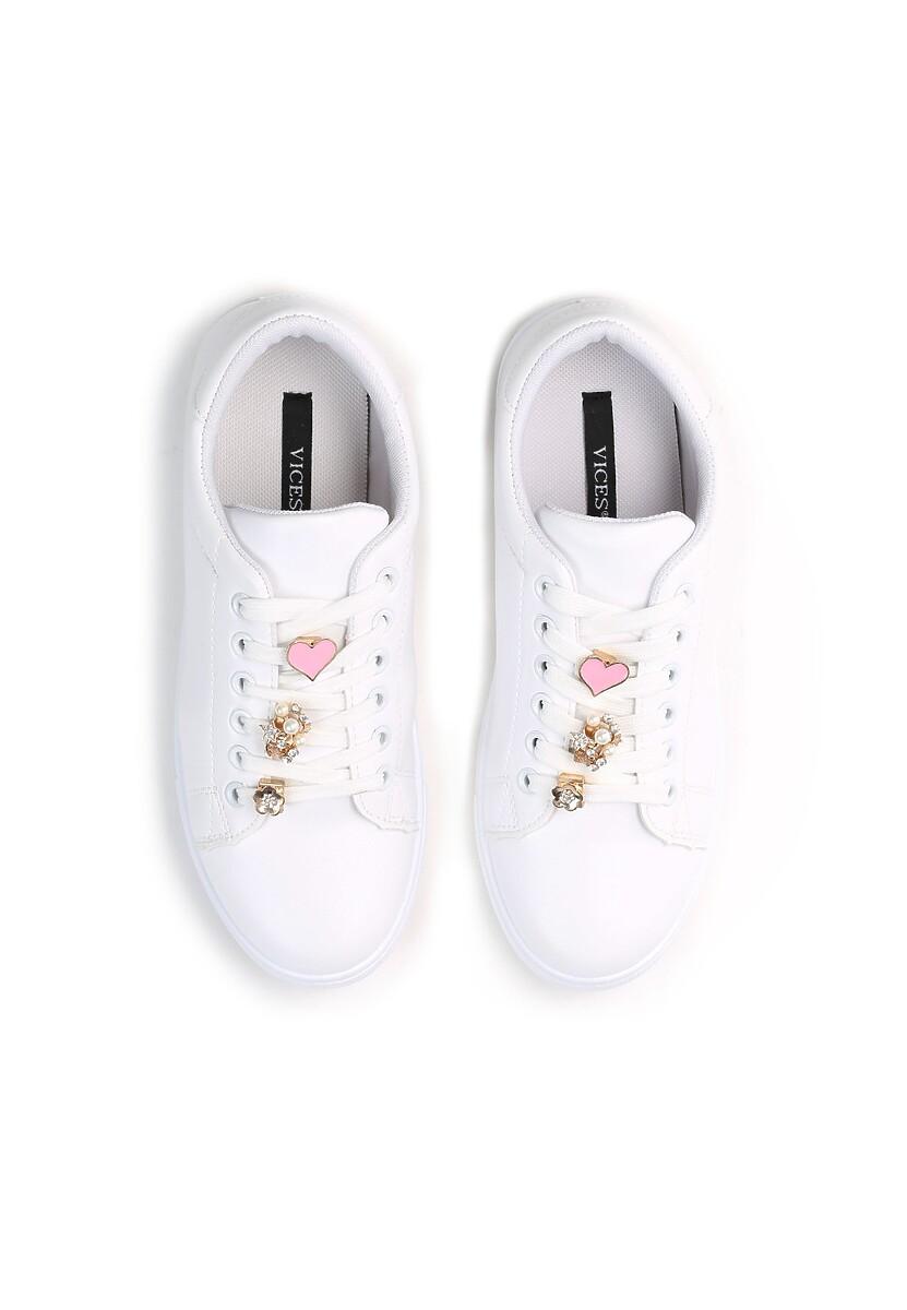Białe Buty Sportowe Golden Heart
