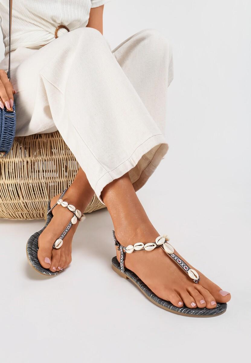 Czarne Sandały Luxuriant