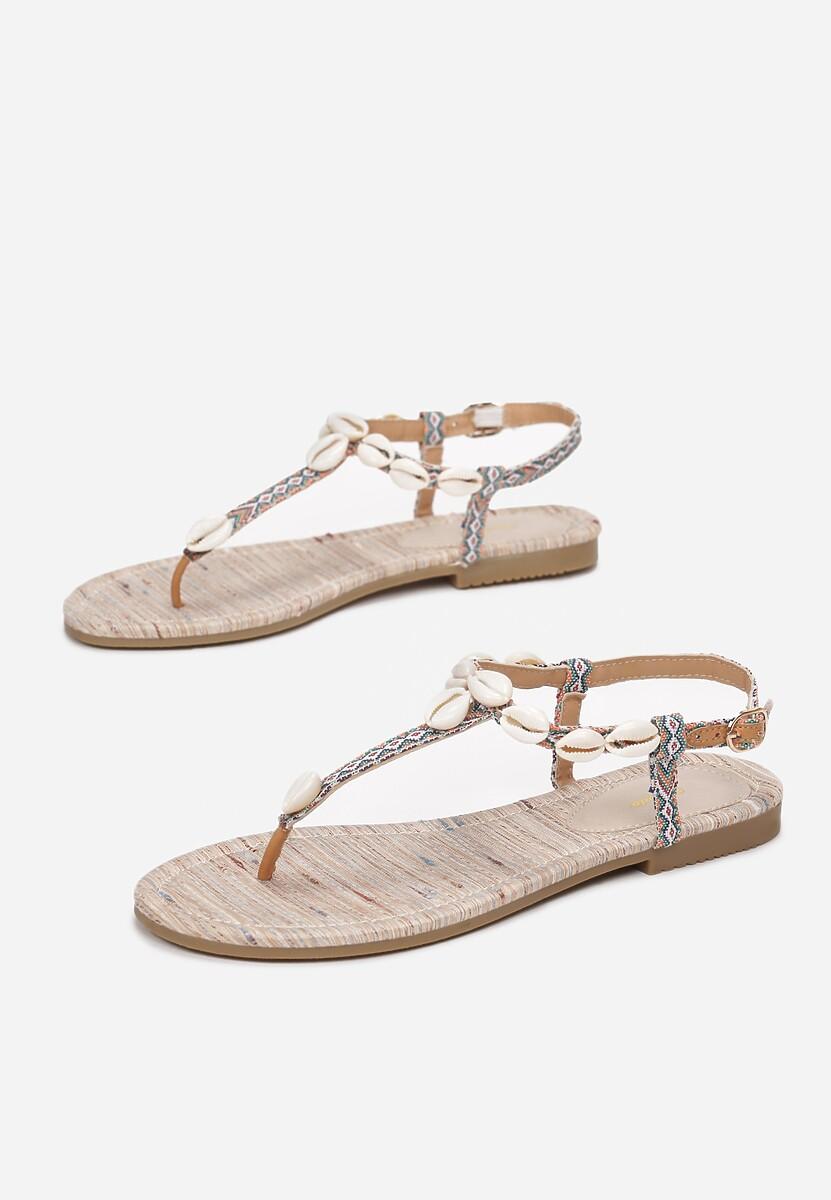 Jasnobeżowe Sandały Luxuriant
