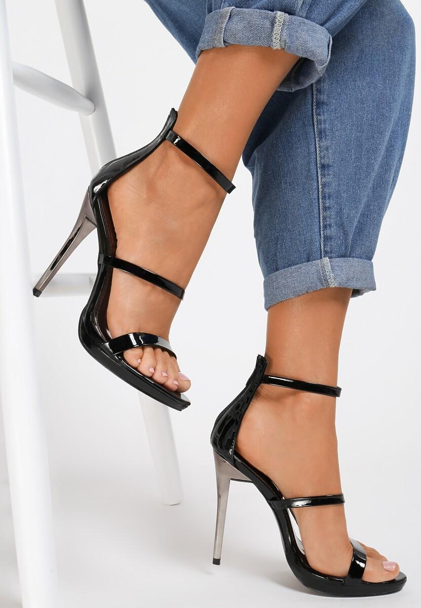 Czarne Sandały Tattersall