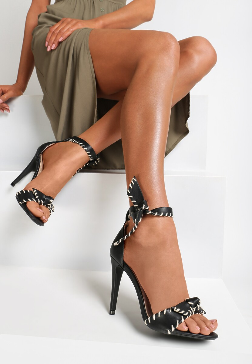 Czarne Sandały Dropping A Sound