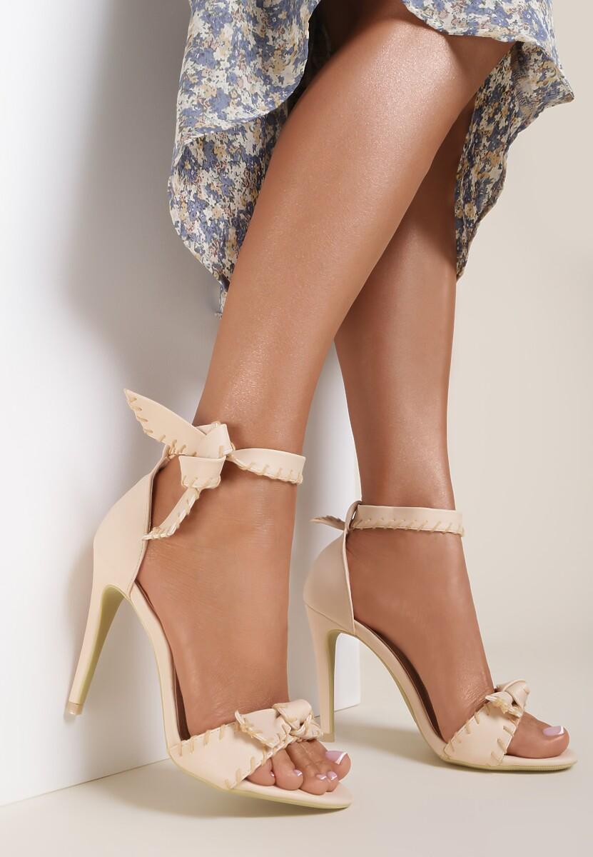 Beżowe Sandały Dropping A Sound