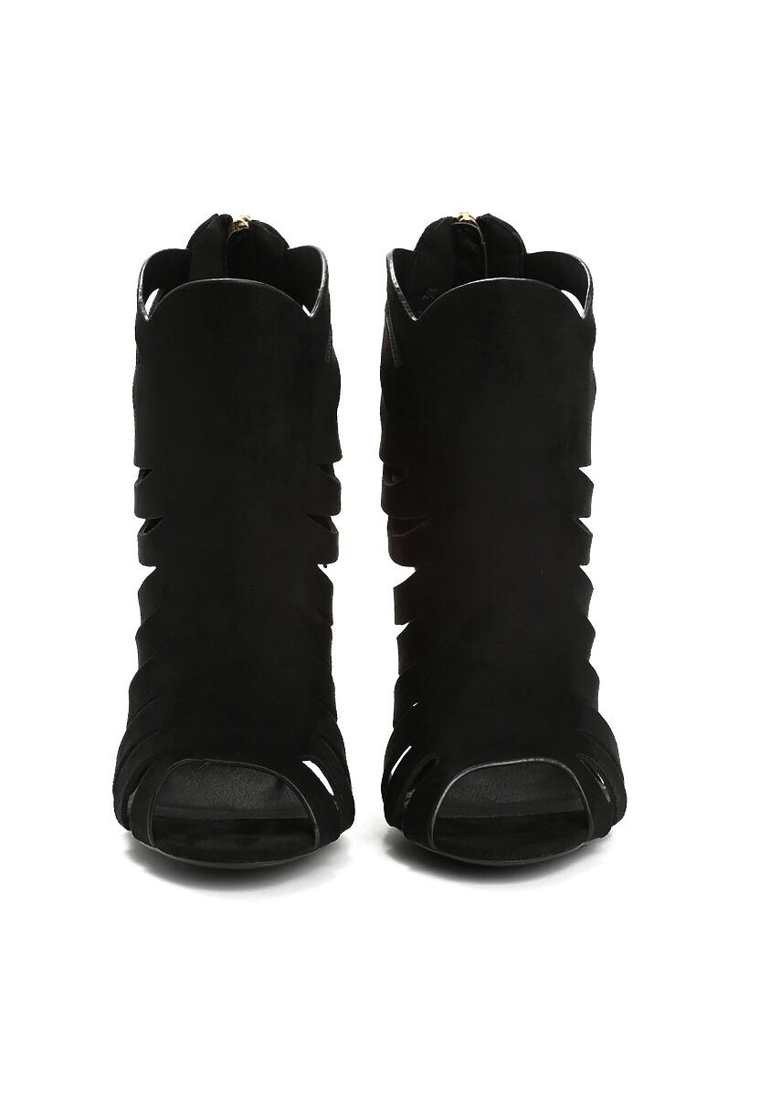 Czarne Sandały Conflate