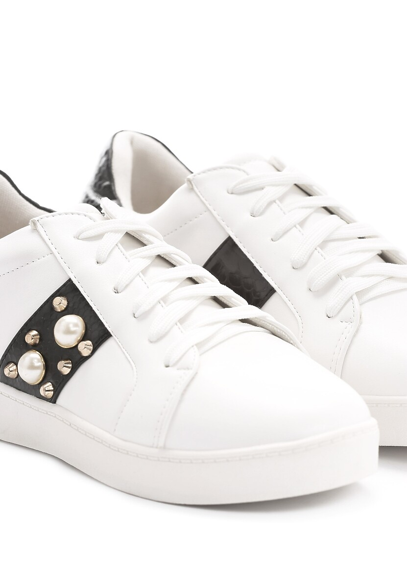 Biało-Czarne Buty Sportowe Sweet Mango