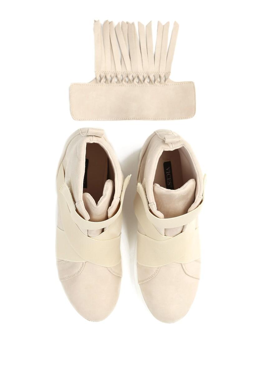 Beżowe Sneakersy Scarlett