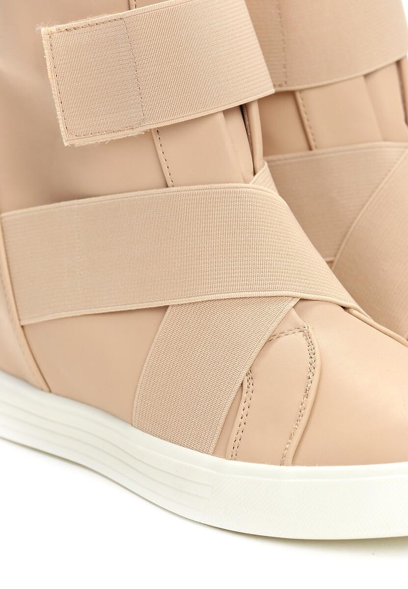 Beżowe Sneakersy Ginger