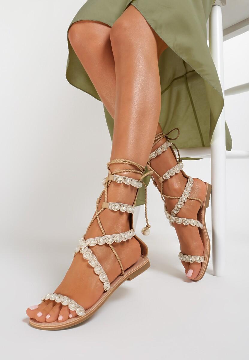 Beżowe Sandały Passionate Move