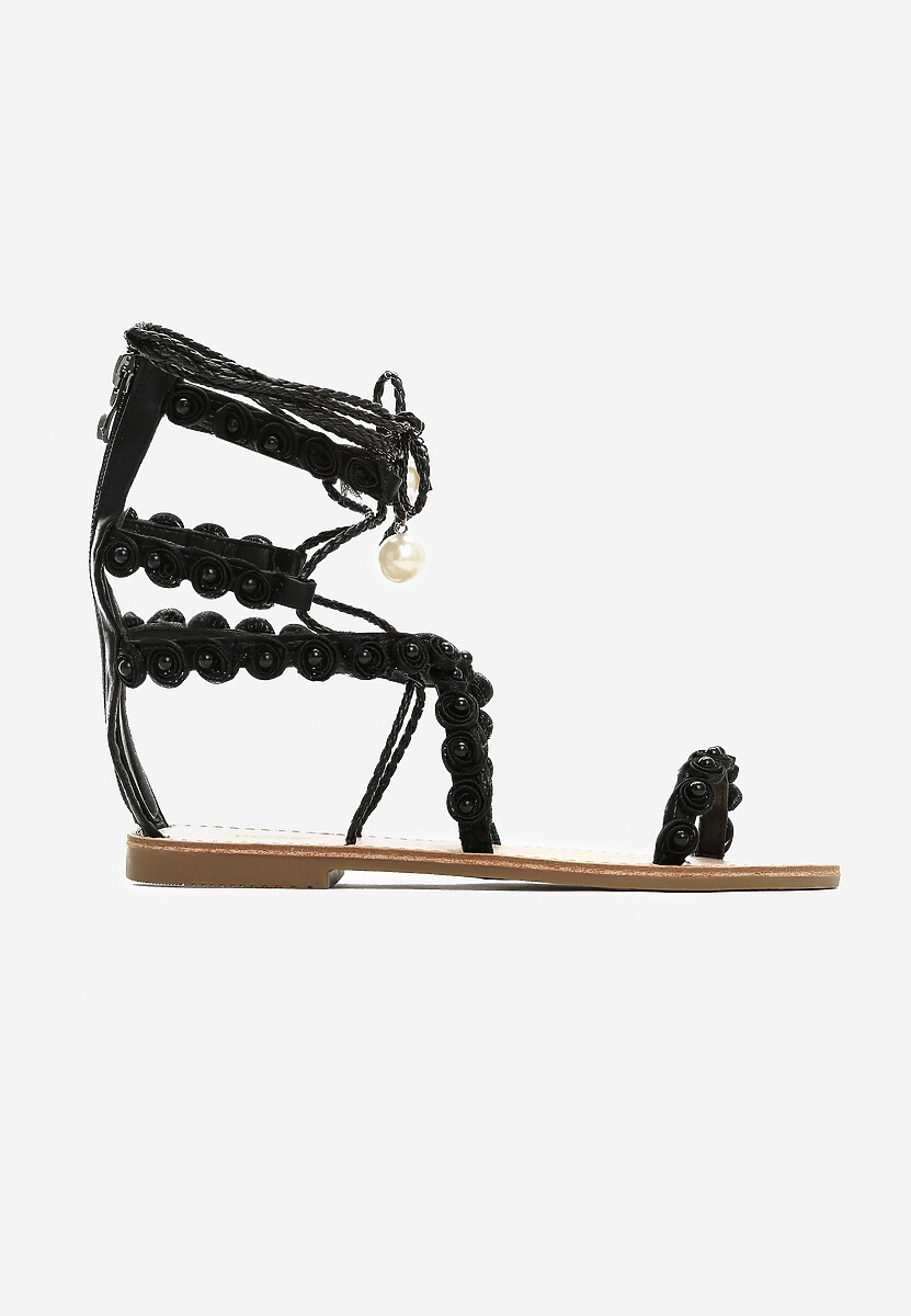Czarne Sandały Passionate Move