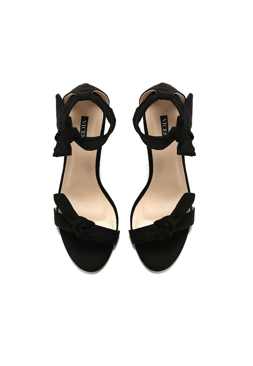 Czarne Sandały Turquoise